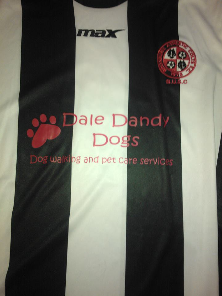 Dale Dandy Dogs, Sponsors of Broxburn Colts Under 13s Away Strip - helping community clubs